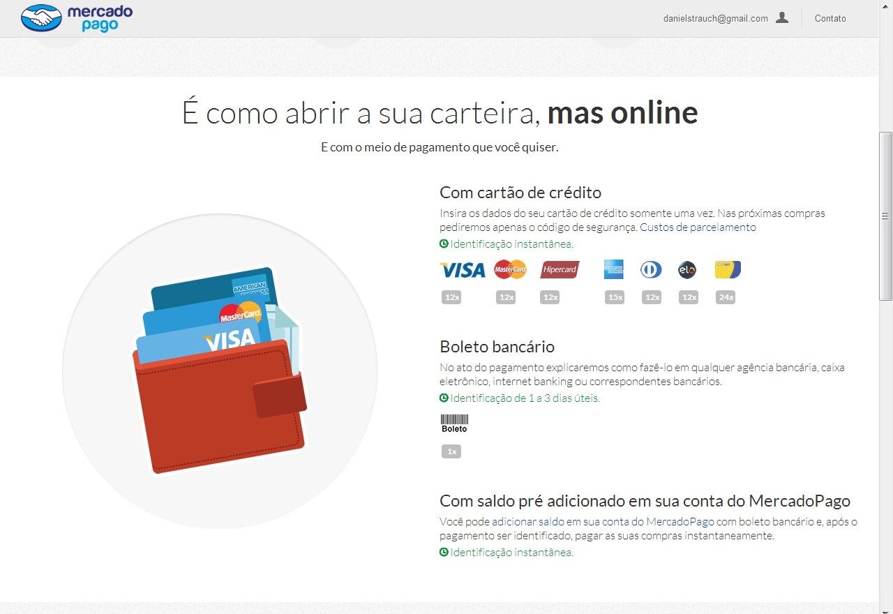 Escolha o método de pagamento da nova conta identifica (Foto: Reprodução/Daniel Ribeiro)