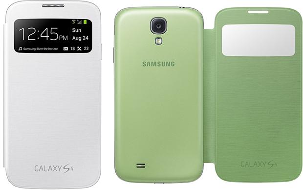Capas S View Cover Samsung, em branco e verde (Foto: Divulgação/Samsung)