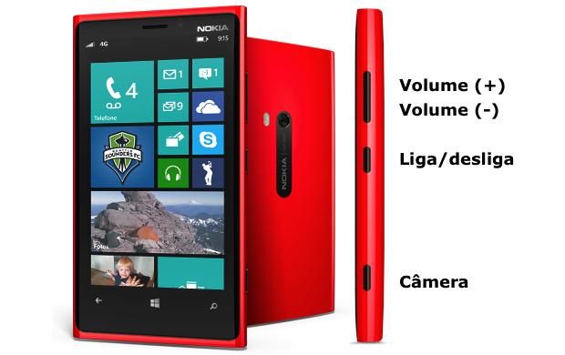 Botões laterais do Windows Phone (Foto: Reprodução/Nokia)