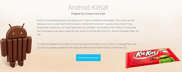 Android Kit Kat foi anunciado oficialmente pelo Google (Foto: Divulgação) (Foto: Android Kit Kat foi anunciado oficialmente pelo Google (Foto: Divulgação))
