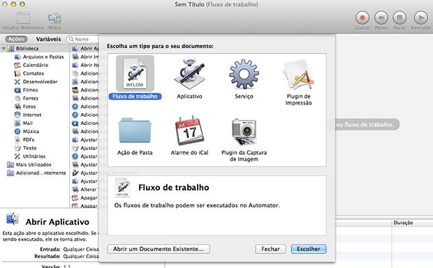 automator (Foto: Reprodução/João Paulo Carrara)