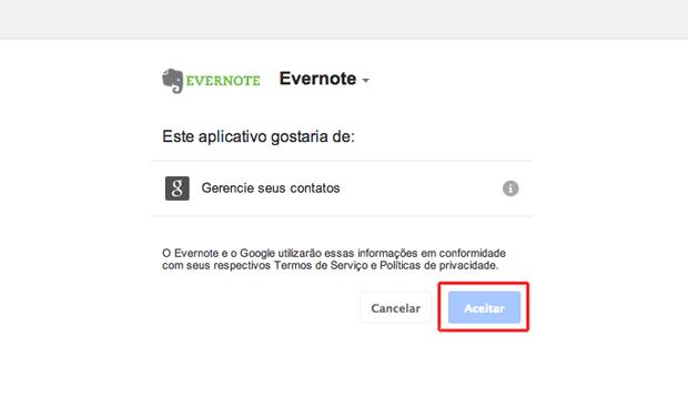 Vinculando o Evernote ao Gmail (Foto: Reprodução/Marvin Costa)