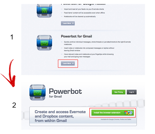 Acessando o Powerbot for Gmail (Foto: Reprodução/Marvin Costa)