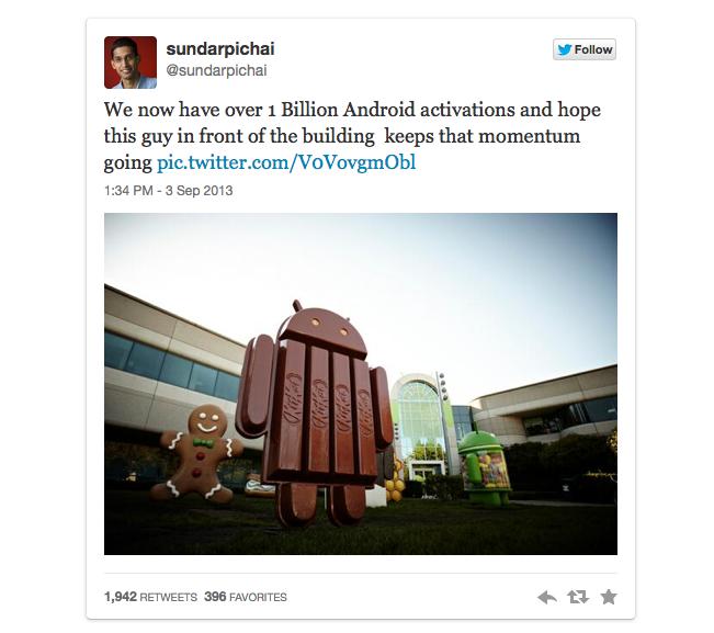 """Publicação de Sundar Pichai mostra o novo """"robô"""" em frente ao Google (Foto: Reprodução)"""