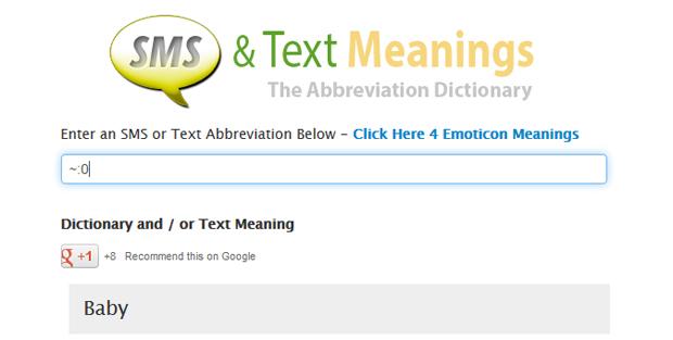 Text Meaning apresenta a reposta em inglês (Foto: Reprodução/TechTudo)