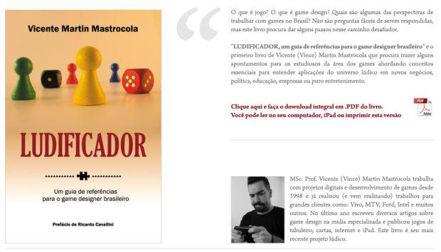 Vince Vader é autor do Ludificador, livro lançado em 2012 (Foto: Reprodução)