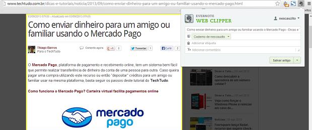 Escolha o diretório onde o artigo será salvo (Foto: Reprodução/Thiago Barros)