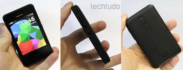Asha 501 traz design extremamente compacto, com tela de 3 polegadas (Foto: Elson de Souza/TechTudo)