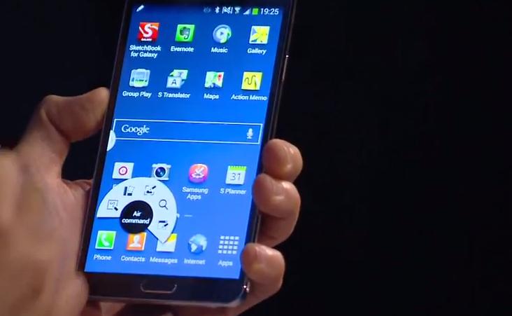 Novo Air Command, do Galaxy Note 3: menu de acesso rápido a recursos úteis (Foto: Divulgação)
