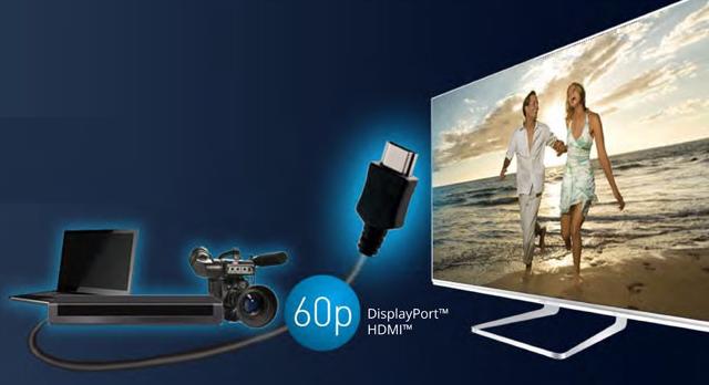 Panasonic Smart TV é a primeira do mundo a oferecer o novo formato das portas HDMI 2.0 (Foto: Divulgação)