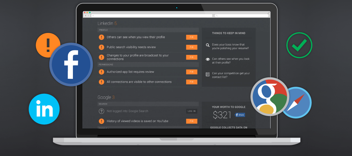 Extensão da AVG PrivacyFix permite gerenciar privacidade em vários sites e rede sociais  (Foto: Divulgação)