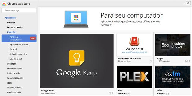 Chrome Apps (Foto: Reprodução)