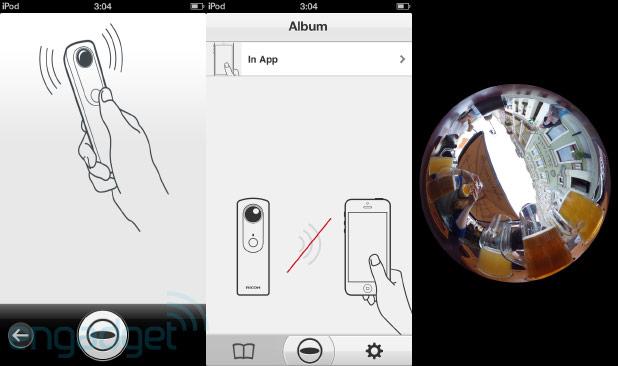 Interface da Theta (Foto: Reprodução/Engadget)