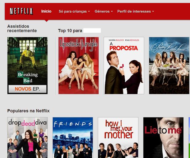 Entre na sua conta na Netflix (Foto: Reprodução)