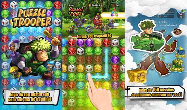 Puzzle Tropper mistura quebra-cabeça e RPG em um jogabilidade viciante (Foto: Divulgação)