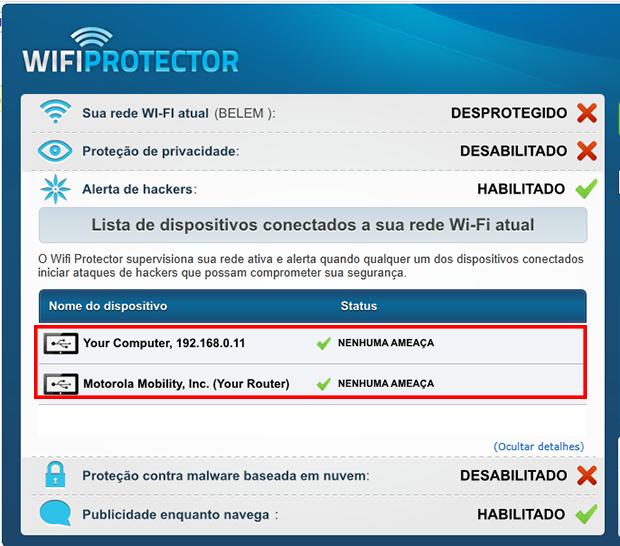 Verifique quais dispositivos estão conectados (Foto: Reprodução / Paulo Alves)