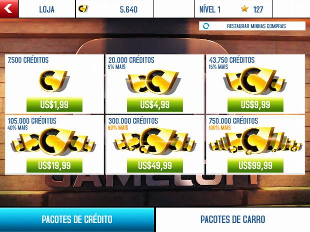 Opções de compra de 99 dólares em jogos que custam apenas um dólar são no mínimo estranhas (Foto: Reprodução / Dario Coutinho)