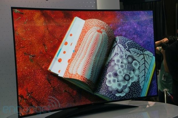 LG exibe a maior TV OLED 4K curvada do mundo na IFA 2013 (Foto: Reprodução/Engadget)