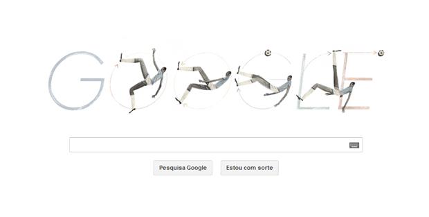 Doodle do Google homenageia Leônidas da Silva (Foto: Reprodução/TechTudo)