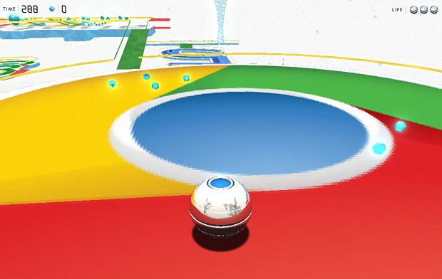 Labirinto de aniversário do Chrome é de nível 2 de dificuldade (Foto: Reprodução/TNW)
