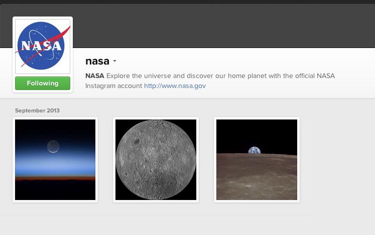 NASA vai usar o Instagram para publicar fotos do espaço  (Foto: (Foto: Reprodução/Internet))