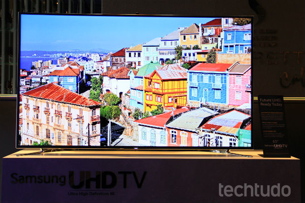 Modelo de 55 polegadas Ultra HD chega por R$ 20 mil (Foto: TechTudo/Renato Bazan)