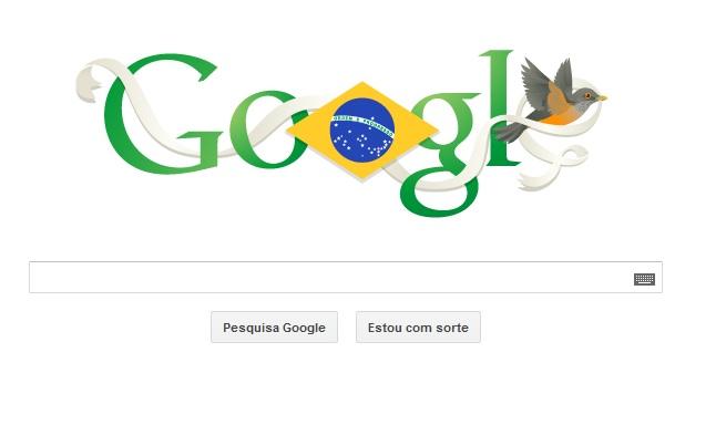 Independência do Brasil é comemorada com Doodle pelo Google (Foto: Reprodução / TechTudo)