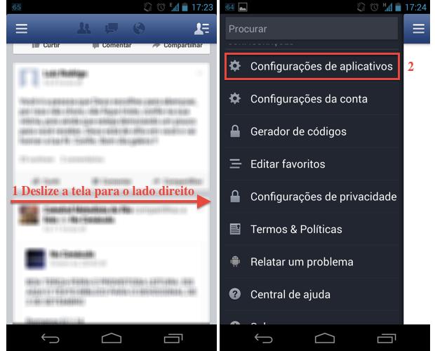 """Acesse as """"Configurações de aplicativos"""" do Facebook (Foto: Reprodução/Thiago Bittencourt) (Foto: Acesse as """"Configurações de aplicativos"""" do Facebook (Foto: Reprodução/Thiago Bittencourt))"""