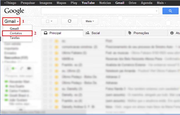 Acesse os seus contatos do Gmail (Foto: Reprodução/Thiago Bittencourt) (Foto: Acesse os seus contatos do Gmail (Foto: Reprodução/Thiago Bittencourt))