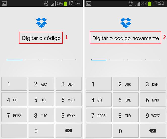Cadastre o código de desbloqueio do app (Foto: Reprodução/Thiago Bittencourt)