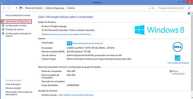 Acesse o menu Iniciar e digite 'computador'. Clique em Gerenciador de Dispositivos (Foto: Reprodução/Paulo Alves)