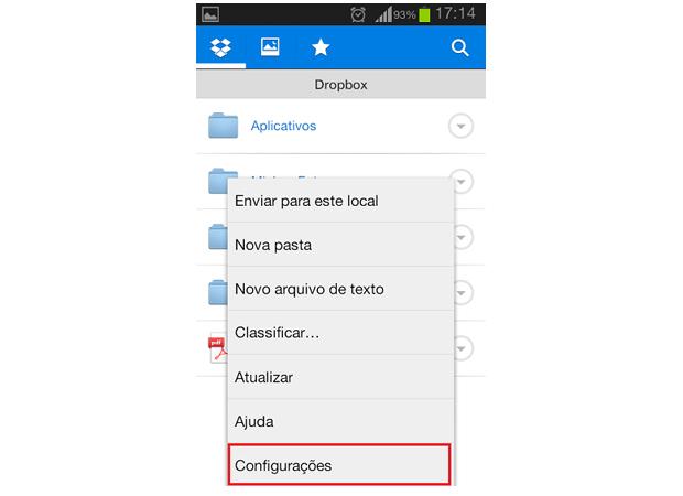 Acesse as configurações do aplicativo (Foto: Reprodução/Thiago Bittencourt)