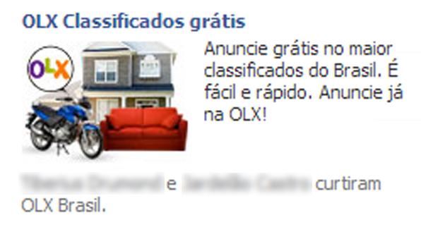 Publicidade do Facebook pode mostrar nome de amigos que curtiram marcas ou empresas  (Foto: Reprodução/João Kurtz)
