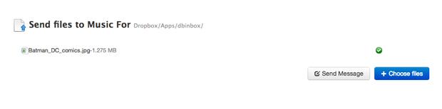 O arquivo foi enviado para o Dropbox utilizando o Dbinbox (Foto: Reprodução/Marvin Costa)