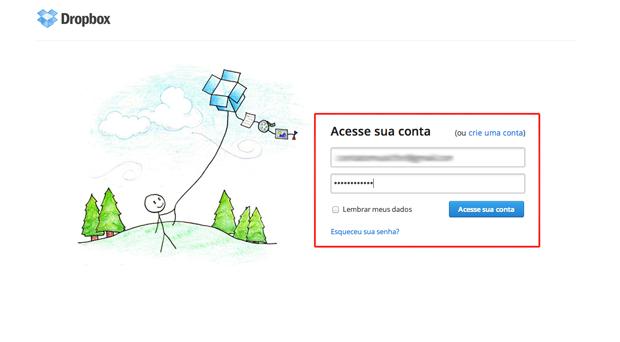 Vinculando a conta do Dropbox ao Dbinbox (Foto: Reprodução/Marvin Costa)