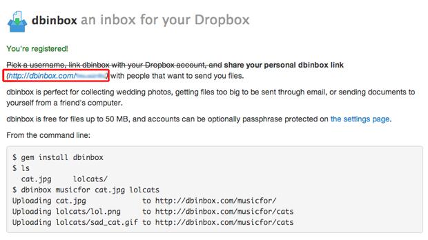 Copiando seu link pessoal de compartilhamento do Dbinbox (Foto: Reprodução/Marvin Costa)