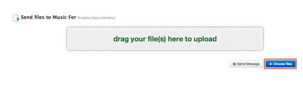 Enviando um arquivo para o Dropbox pelo Dbinbox (Foto: Reprodução/Marvin Costa)