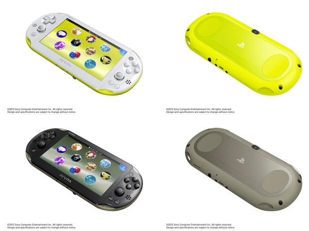 PS Vita ganha modelo mais leve e fino, com novas cores (Foto: Divulgação)