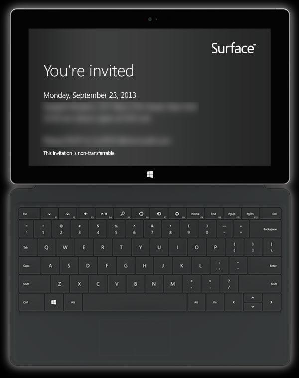 Convite enviado pela Microsoft indica lançamento dos novos Surface no final de setembro (Foto: Reprodução/thenextweb)