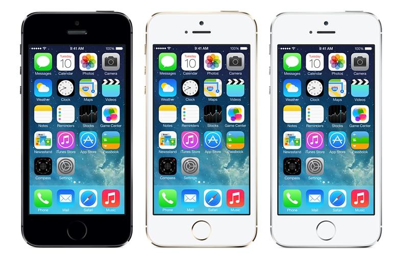 iPhone 5S em três cores diferentes (Foto: Divulgação)
