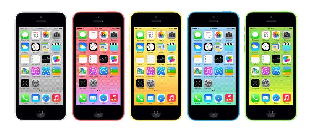 iPhone 5C com cinco cores diferentes, para todos os gostos (Foto: Divulgação)