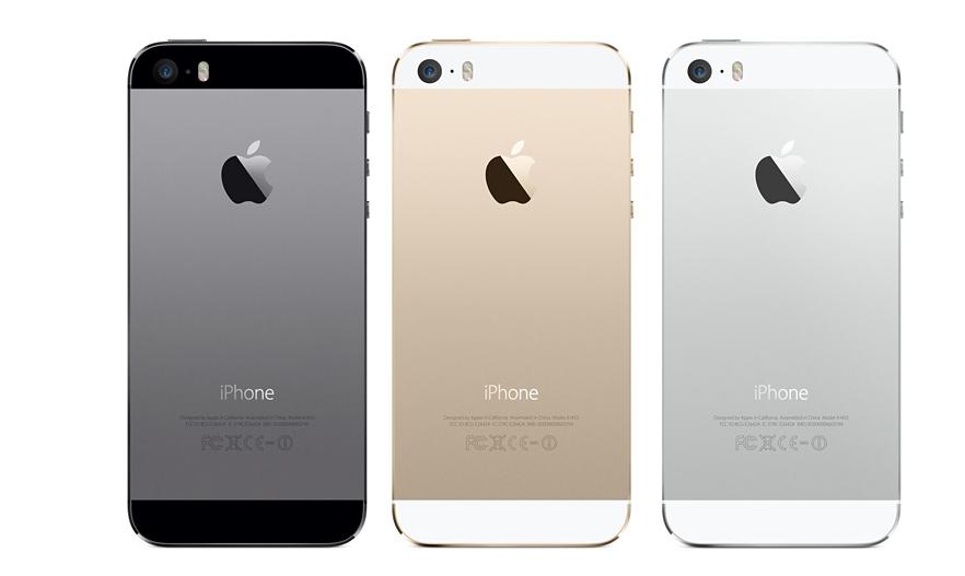 Versões preta, dourada e prata dos novos iPhone 5S (Foto: Divulgação)