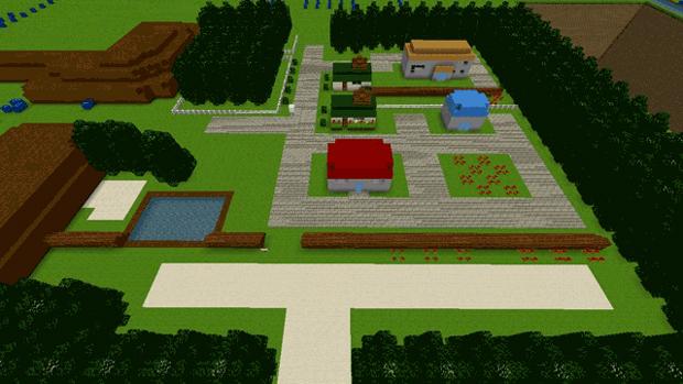 Mundo de Pokémon Red e Blue é recriado em Minecraft (Foto: Reprodução)