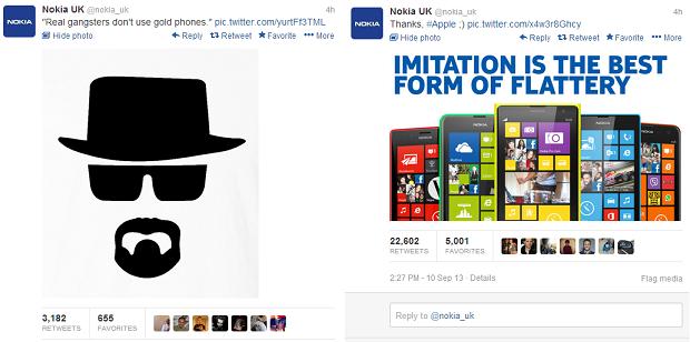 Nokia ironizou a Apple no Twitter (Foto: Reprodução/Twitter)