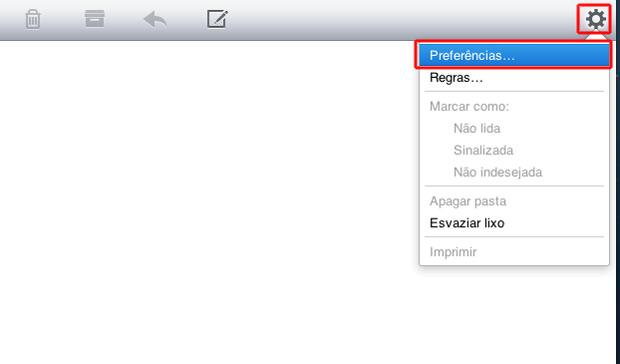 Acessando as preferências de e-mail do iCloud (Foto: Reprodução/Marvin Costa)