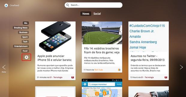 Editando o Feed do OneFeed no Google Chrome (Foto: Reprodução/Marvin Costa)