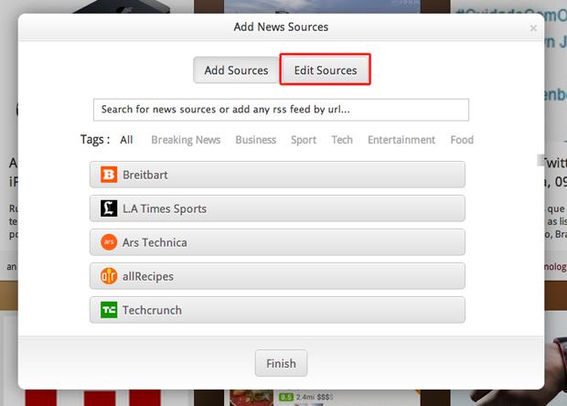 Editando os sites que aparecem no Feed do OneFeed no Google Chrome (Foto: Reprodução/Marvin Costa)