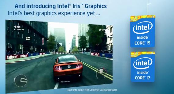 Drive rodando com o Intel Iris, chip gráfico dentro dos novos processadores de quarta geração da companhia (Foto: Divulgação)