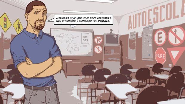 Para os designers de games da VRUM, o maior desafio do jogo é dirigir dentro das regras, respeitando as pessoas (Foto: Divulgação)