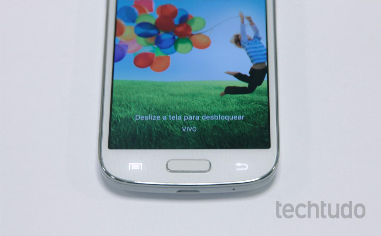 Botões sensíveis ao toque do Galaxy S4 Mini (Foto: Barbara Mannara/TechTudo)